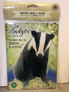 The Badger - SMALL - Tin Metal Wall Sign *Top 100*
