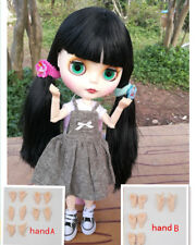 Blythe Nude Doll from Factory Jointed Body Matte Face Japan's Black Hair+Hands