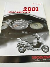 Prospectus Catalogue Brochure Scooters Honda Gamme 2001 Nederland