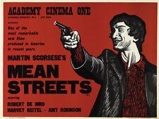 MEAN STREETS Robert De Niro Martin Scorsese nel dire 1970'S STYLE ART PRINT 30X 40 cm