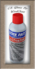 Stick Fast 3 7.5 12.5 OZ CA Glue Activator Accelerator Woodturning Model