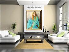 Sheldon Schoneberg Large Original Pastel Painting Signed Female Portrait Artwork