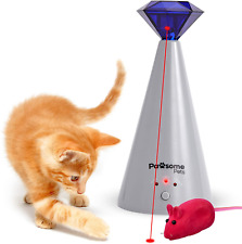 New listing Pawsome Pets Interactive Laser Cat Toy - Automatic Rotating Laser Pointer for Ki
