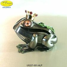 FROG WITH GOLD CROWN CRYSTOCRAFT SWAROVSKI ELEMENTS