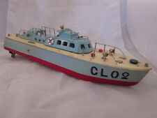 "1950s Wood Boat Model ""CL02"" Battery Operated Twin Propellers"