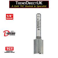 "TREND C033  1/"" 25.4MM X 19.1MM STRAIGHT TCT ROUTER CUTTER BIT 1//4/"" SHANK"