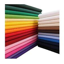 Plain Colours 100% Cotton Fabric 64''/160cm Wide CRAFTS FACE MASKS NHS SCRUBS