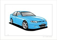 HOLDEN  HSV   VT  CLUBSPORT  COMMODORE    GMH  CLASSIC DRAWING  LIMITED EDITION