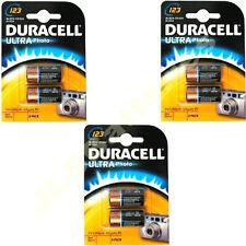 6 x DURACELL LITHIUM 123 CR123A DL123 Photo Batteries