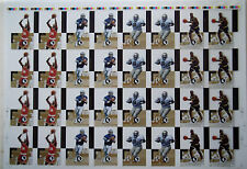 1993-94 Images Four Sports Acetates Uncut Sheet HAKEEM OLAJUWON CHRIS WEBBER +2