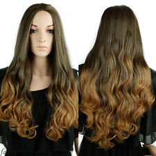 Synthetic Hair Wigs Natural 3/4 Hair Half Wig Long Straight Curly Hair Black Wig