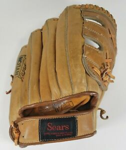Vintage Sears Roebuck & Co Youth Baseball Glove 1674 Top Grain Cowhide