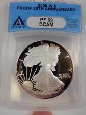 2006-W American Silver Eagle, ANACS PF69 DCAM, 20th Anniv., Proof,  #B106
