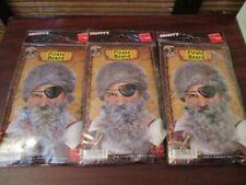 Smiffy Dressing Up Costume Halloween Pirate Beards - Set of Three  (NEW)