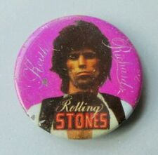 ROLLING STONES KEITH RICHARDS VINTAGE METAL PIN BADGE FROM THE 1970's