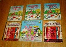 Vintage Lot (6) 1970's-80's Golden Press Pink Panther Books - Racine, Wisconsin