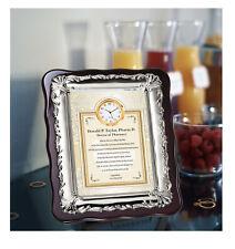Pharmacist Doctor of Pharmacy PharmD Gift Silver Plaque Clock Graduate Student