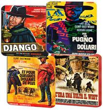 Spaghetti Western Movie Film Poster Coasters Set Of 4. High Quality Cork Classic