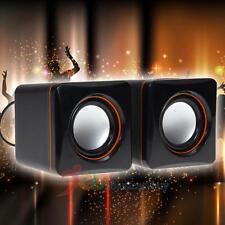 USB 3.5mm Stereo Mini Speaker Subwoofer for Desktop Laptop Notebook Tablet  Mp4