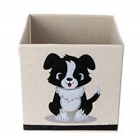 Dog Design Toy Box by Sun Cat - Perfect for Kids and Pet Toys - Durable Canvas -