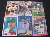 Lot of 30 Different Wade Boggs Fleer Topps Donruss Upper Deck Red Sox Lot B