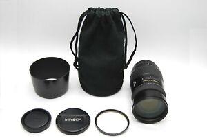 CLEAR [N MINT w/ Hood] Minolta AF APO TELE ZOOM 100-400mm f/4.5-6.7 Japan #30175