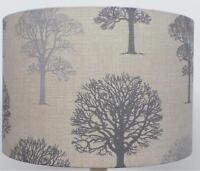 Grey and silver  linen Trees design Lampshade, Ceiling Pendant, Table Lamp