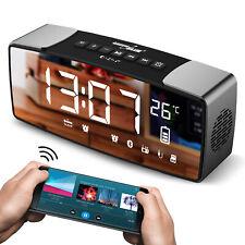 Radiosveglia orologio Bluetooth 4.2, FM, aux-in, 6W, temperatura, sveglia