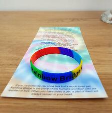 Pont Rainbow Bracelet Pet perte Memoriam/dans la mémoire/CHIEN/CHAT objet 1