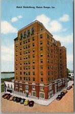 Baton Rouge, Louisiana Postcard HOTEL HEIDELBERG Street View / Kropp Linen 1949