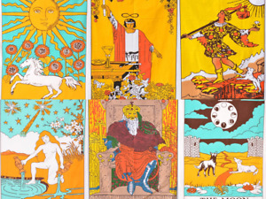 Wholesale 5 pcs Tarot Flag Tapestry Wall Hanging Mysterious Medieval Europe