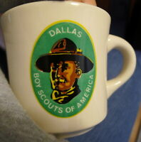 Dallas Boy Scouts of America Coffee Cup Staffordshire England Made Mug Vintage