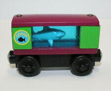 Thomas & Friends Wooden Railway Train Aquarium Cars 2002 Sodor Shark RARE!
