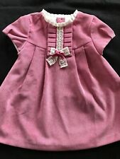 Mayoral (Spain) NWT Dusty Rose Corduroy Dress -4-6 Months