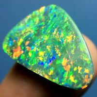 8.90ct GEM QUALITY Striking Australian Lightning Ridge Black Opal DOUBLET~ VIDEO