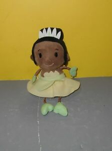 "Small Adorable 8"" Hallmark Bean Plush Frog Princess Tiana w/ String Arms & Legs"