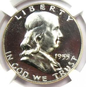 1955 PROOF Franklin Half Dollar 50C Coin - NGC PR68 Cameo CAC (PF68) $685 Value