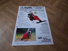 Werbeblatt Köppl Motormäher 2 A 500 MP