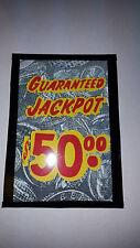 REPO $50.00 MILLS BUCKLEY JACKPOT GLASS VINTAGE VEGAS CASINO REPO LARGE  WINDOW