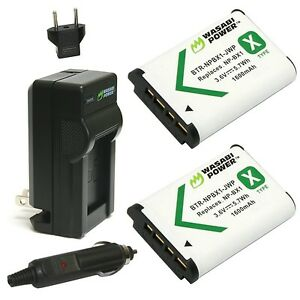 Wasabi Power Battery (2-Pack) and Charger for Sony NP-BX1 NP-BX1/M8