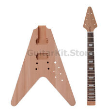GTS Flying V DIY Electric guitar kit / DIY guitar (GTSFV-903-BN, no hardware)