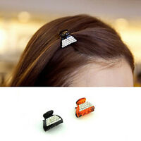 Hot Sell Fashion Korean Style Women Crystal Mini Hair Claw Clips Barrette