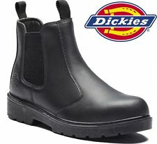 MENS DICKIES LIGHTWEIGHT STEEL TOE CAP SAFETY DEALER WORK BOOTS BLACK SHOE SZ 9
