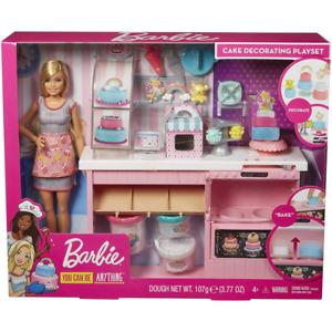 Barbie Cake Decorating Playset & Accessories Doll New Kids Kitchen Mattel
