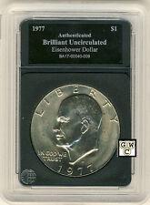 1977 United States Eisenhower Dollar - Case Marked Brilliant Uncirculated (OOAK)