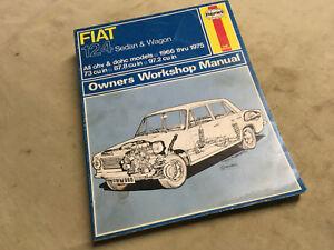 Fiat 124 Repair Service Shop Manual 1966–75 Haynes