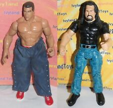 Kurt Angle & The Big Show WWE Titan Tron Live Jakks Action Figure Lot Series