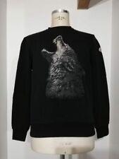 MONCLER felpa maglia sweater big logo giro collo wolf authentic taglia L