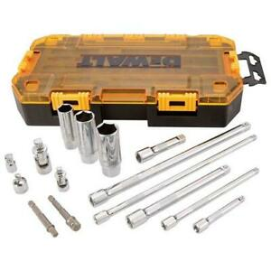 DeWALT 15-Piece Ratchet Wrench Extension Accessory Tool Kit