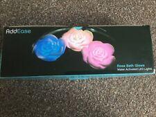Agua De Rosas Baño brilla-activado Luces LED Nuevo Y En Caja